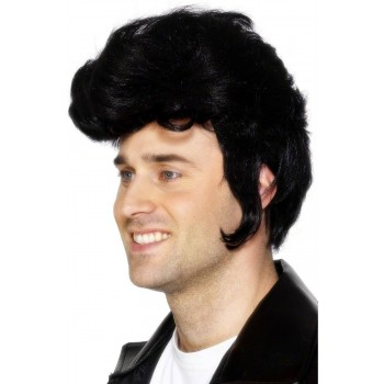 Rockstar Wig - Fancy Dress Mens (1950S) - Black