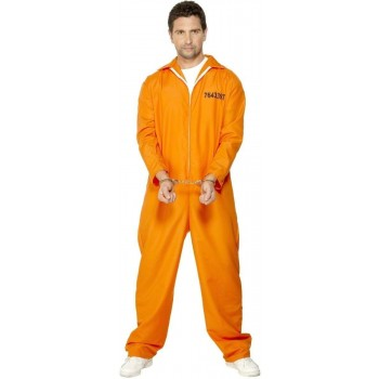 Escaped Prisoner Fancy Dress Costume Mens (Cops/Robbers)