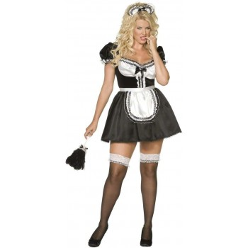 Envy Sexy French Maid Fancy Dress Costume Size 20-22 (Sexy)