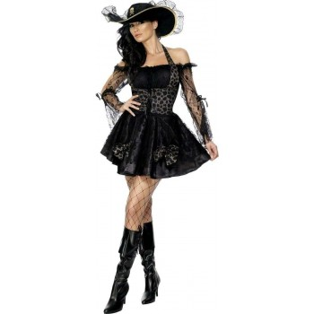 Fever Sexy Swashbuckler Fancy Dress Costume Ladies (Sexy)