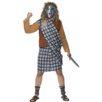 Brave Scotsman Fancy Dress Costume Mens (Cultures)