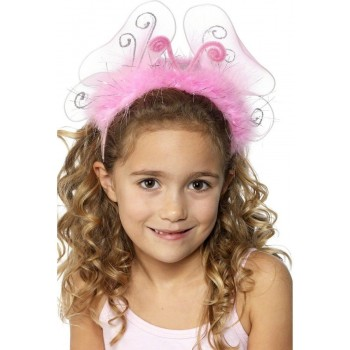 Girl'S Pink Flashing Headband - Fancy Dress Girls
