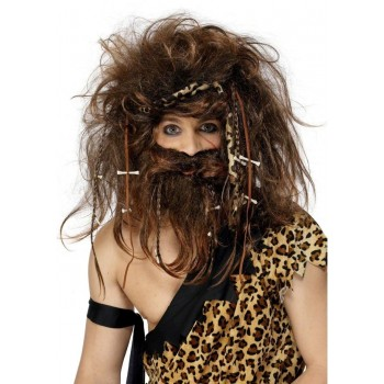Caveman Set - Fancy Dress Mens (Cavemen) - Brown