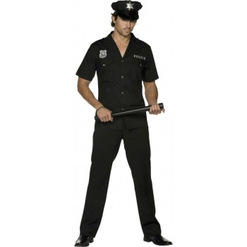 Fever Cop Fancy Dress Costume Mens (Cops/Robbers , Sexy)