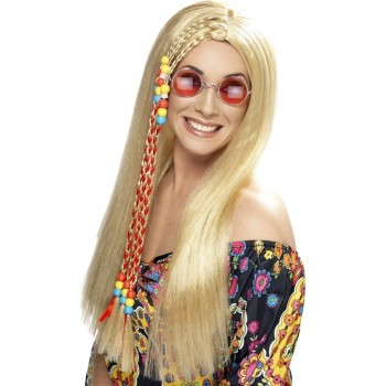 Hippy Party Wig - Fancy Dress Ladies (1960S) - Blonde