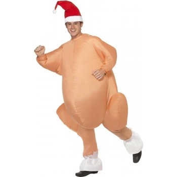 Inflatable Christmas Roast Turkey - Fancy Dress Mens (Christmas)