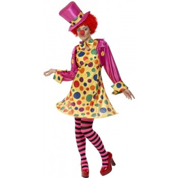 Clown Lady Fancy Dress Costume Ladies (Clowns)
