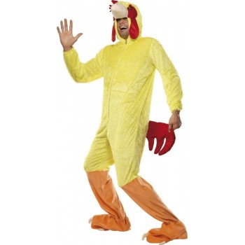 Chicken Fancy Dress Costume Mens Size 38-40 S (Animals)