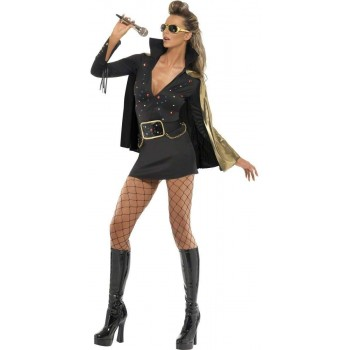 Elvis Viva Las Vegas Fancy Dress Costume Ladies (Music)