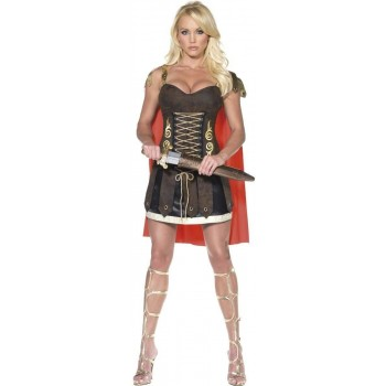 FEVER GLADIATOR FANCY DRESS COSTUME LADIES (SEXY)
