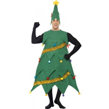 New Deluxe Christmas Tree Fancy Dress Costume