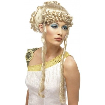 Greek Goddess Wig - Fancy Dress Ladies (Greek , Medieval) - Blonde