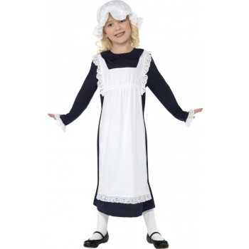 Victorian Poor Girl Fancy Dress Costume Girls (Old English)