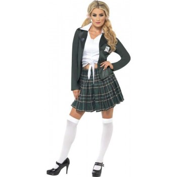 Preppy Schoolgirl Fancy Dress Costume