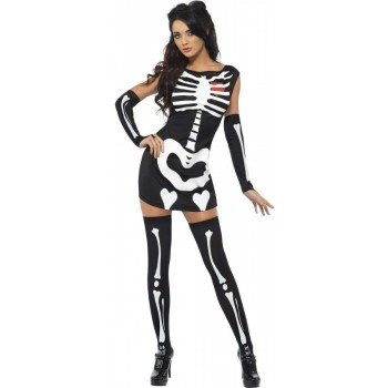 Fever Sexy Skeleton Fancy Dress Costume Ladies (Sexy)