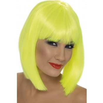 Glam Wig - Fancy Dress Ladies - Yellow