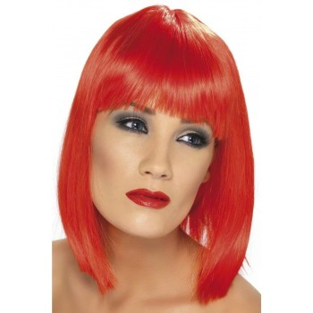 Glam Wig - Fancy Dress Ladies - Red