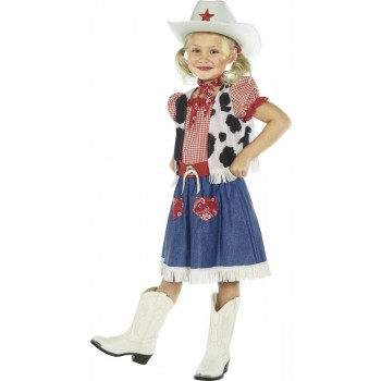 Cowgirl Sweetie Fancy Dress Costume Girls (Cowboys/Indians)
