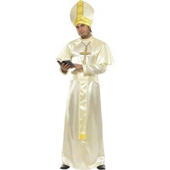 Pope Fancy Dress Costume Mens Size 38-40 S (Vicars/Nuns)