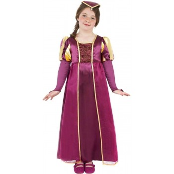 Tudor Girl Fancy Dress Costume Girls (Old English)