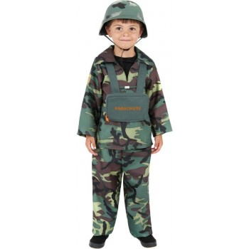 Army Boy Fancy Dress Costume Boys (Army)