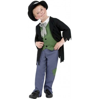 Dodgy Victorian Boy Fancy Dress Costume Boys (Old English)