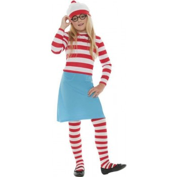 Where'S Wally Wenda Child Fancy Dress Costume