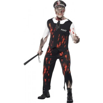 Zombie Policeman Fancy Dress Costume