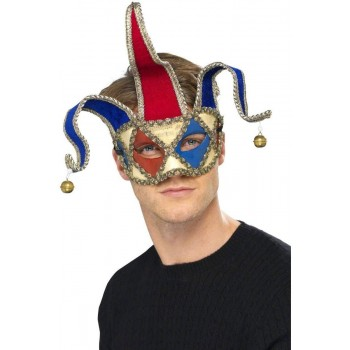Venetian Musical Jester Eyemask Fancy Dress