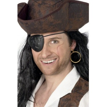 Pirate Eyepatch And Earring - Fancy Dress (Pirates)