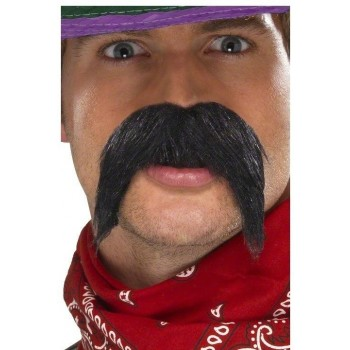 Big And Bushy Gringo Tash Fancy Dress Mens