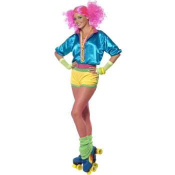 Skater Girl Fancy Dress Costume Ladies (1980S)