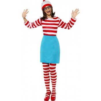 Where'S Wally Female Fancy Dress Costume Ladies (Cartoon)