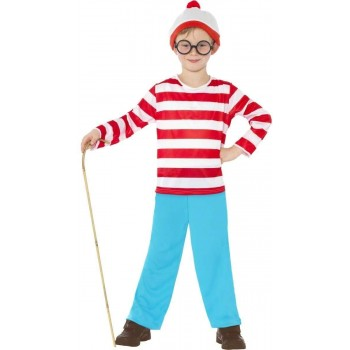 Where'S Wally Child Fancy Dress Costume Boys (Cartoon)