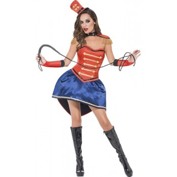 Ladies Colourful Ringmaster Fancy Dress Costume