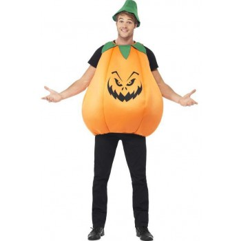 Mens Pumpkin Costume (Halloween Fancy Dress Outfit)