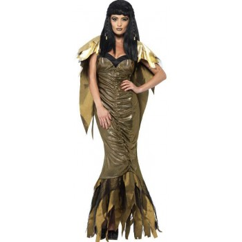 Ladies Gold Dark Cleopatra (Fancy Dress Costume)