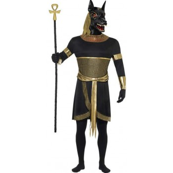 Mens Black Anubis The Jackal (Fancy Dress Costume)