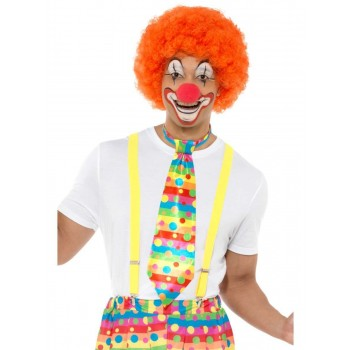 Big Top Clown Tie Fancy Dress Accessory