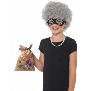 David Walliams Deluxe Gangsta Granny Instant Kit Fancy Dress Costume