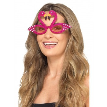 Flamingo Sparkle Glasses Fancy Dress Accessory