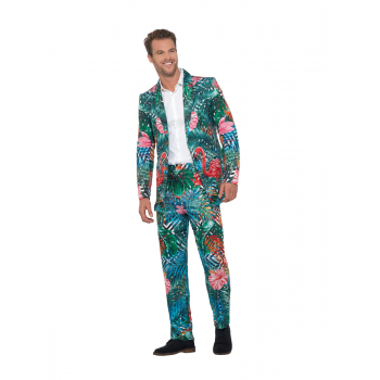 Hawaiian Tropical Flamingo Suit Fancy Dress Costume