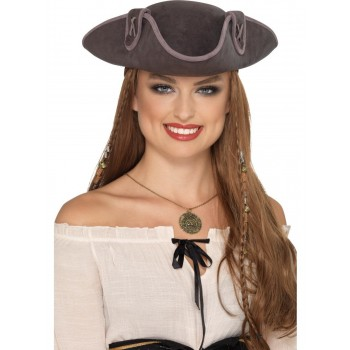 Tricorn Pirate Captain Hat Fancy Dress Accessory