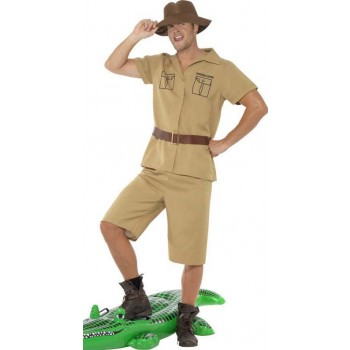 Men'S African Safari Adventure Fancy Dress Costume
