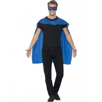 Cape Adult Blue Fancy Dress Costume