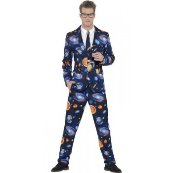 Mens Blue Space/Universe Stand Out Suit Fancy Dress Costume