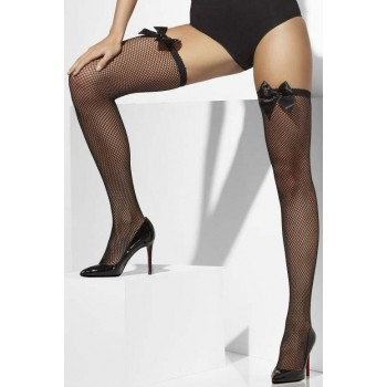 Ladies Black Fishnet Hold-Ups