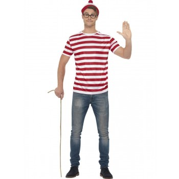 Where's Wally Kit Fancy Dress Costume