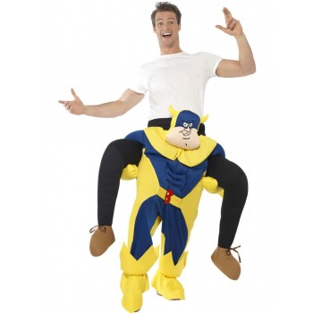 Bananaman Piggy Back Costume Fancy Dress