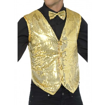Sequin Waistcoat Fancy Dress Costume